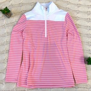 NWT FootJoy Half Zip Pullover Top Shirt Striped